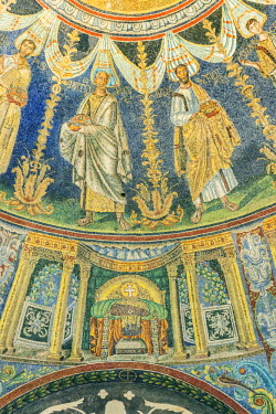 EU16RTI0270 Italy, Ravenna, Neonian Baptistery Ceiling Mosaic constructed in the 5th Century