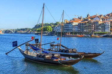 EU23JEN0133 Portugal, Oporto, Douro River, Rabelo boats
