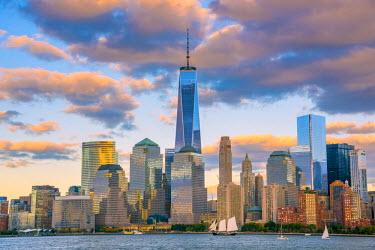 US61313 USA, New York, Manhattan, Lower Manhattan and World Trade Center, Freedom Tower