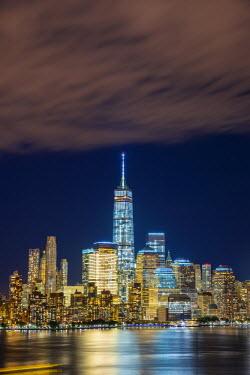 US61341 USA, New York, Manhattan, Lower Manhattan and World Trade Center, Freedom Tower across Hudson River