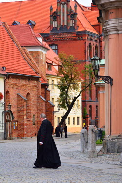 POL1681AW The Ostrow Tumski district (Cathedral island). Wroclaw, Poland