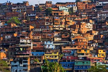 SA20KSU0023 Barrios, slums of Caracas on the hillside, Caracas, Venezuela