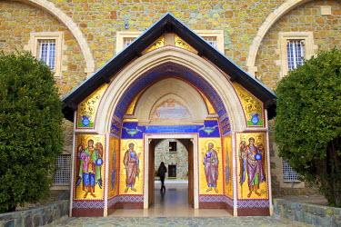 CY01136 Entrance to Kykkos Monastery, Kykkos, Troodos Mountains, Cyprus, Eastern Mediterranean Sea