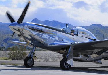 US05KOK0005 USA, California, Palm Springs. North American Aviation P-51 Mustang, Palm Springs Air Museum