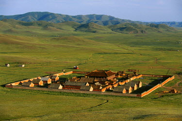 HMS0236484 Mongolia, Selenge Province, overview of Amarbayasgalant Monastery