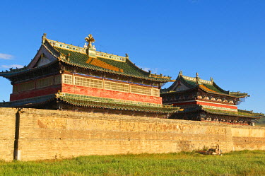 HMS0530591 Mongolia, Ovorkhangai Province, Orkhon Valley listed as World Heritage by UNESCO, Karakorum, ancient capital of Mongolian Empire created by Gengis Khan, Erdenezuu (Erdene Zuu) Monastery, the biggest a...