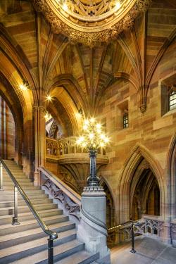 ENG12732AW Europe, United Kingdom, England, Lancashire, Manchester, John Rylands Library