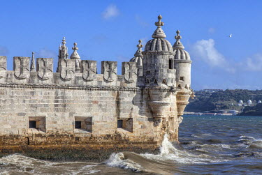 POR8726 Belem Tower (Torre de Belem) is a fortified tower located in the civil parish of Santa Maria de Belem in the municipality of Lisbon, Portugal.