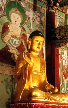HMS0220878 South Korea, Sonunsan Provincial Park, Sonun Sa temple, Buddhas