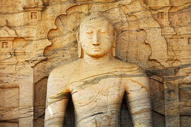 HMS1884946 Sri Lanka, North Central Province, Ancient City of Polonnaruwa classified as World Heritage by UNESCO, seated Buddha