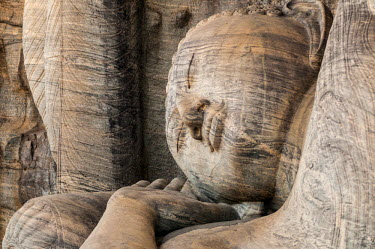 HMS1933867 Sri Lanka, North Central Province, district of Polonnaruwa, archeological site of Polonnaruwa in the cultural triangle, listed as World Heritage by UNESCO, the 3 Gal Vihariya statues of Buddha