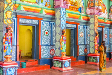 HMS1983549 Sri Lanka, Northern province, Jaffna district, Keerimalai, Hindu temple dedicated to Shiva and Naguleswaram built in 2012