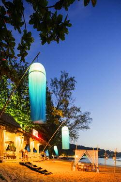 THA1027 South East Asia, Thailand, Phang Nga Province, Khao Lak beach, Indigo beach bar and restaurant