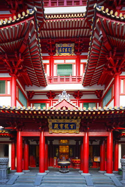 SNG1297 South East Asia, Singapore, Chinatown, Buddha Tooth Relic temple