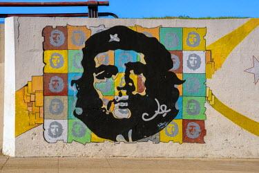 CB01775 Cuba, Havana, Che Guevara Mural
