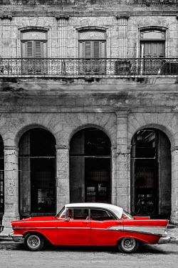 CB01890 Cuba, La Habana Vieja (Old Havana), classic 1950's American Car
