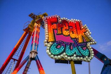 US03401 USA, Massachusetts, Cape Ann, Gloucester, annual Saint Peter's Fiesta, carnival rides