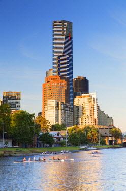 AUS2386AWRF Eureka Tower and Yarra River, Melbourne, Victoria, Australia