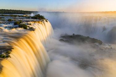 BZ02285 Aerial view over Iguacu Falls, Foz do Iguacu, Iguacu (Iguazu) National Park, Brazil, South America