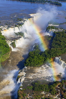 BZ02293 Aerial view over Iguacu Falls, Iguacu (Iguazu) National Park, Brazil