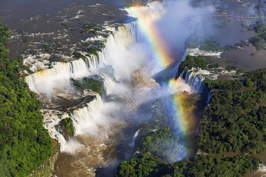 BZ02297 Aerial view over Iguacu Falls, Iguacu (Iguazu) National Park, Brazil