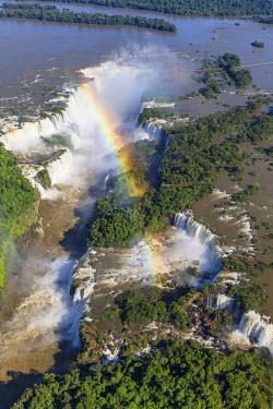 BZ02302 Aerial view over Iguacu Falls, Iguacu (Iguazu) National Park, Brazil