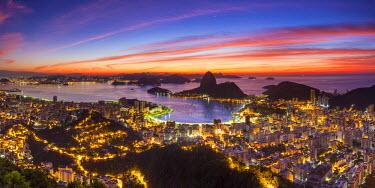 BZ01268 View over Botafogo Bay and the Sugar Loaf, Rio de Janeiro, Brazil