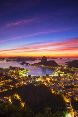 BZ01269 View over Botafogo Bay and the Sugar Loaf, Rio de Janeiro, Brazil