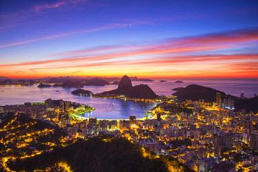 BZ01270 View over Botafogo Bay and the Sugar Loaf, Rio de Janeiro, Brazil
