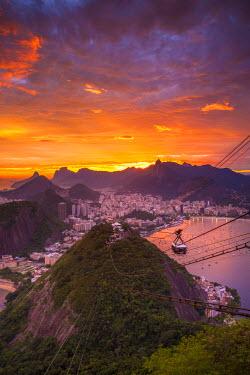 BZ01296 Copacabana beach and Rio de Janeiro from the Sugar Loaf, Brazil
