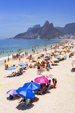 BZ01470 View of Ipanema Beach, Rio de Janeiro, Brazil, South America