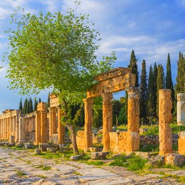 TK09314 Ruins of ancient Hierapolis, Pamukkale, Denizli Province, Turkey