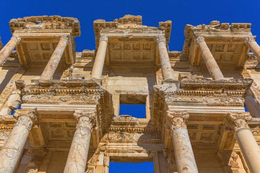 TK09350 Library of Celsus, Ruins of ancient Ephesus, Selcuk, Izmir Province, Turkey