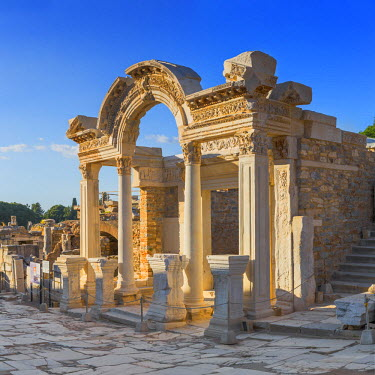 TK09371 Temple of Hadrian, ruins of ancient Ephesus, Selcuk, Izmir Province, Turkey
