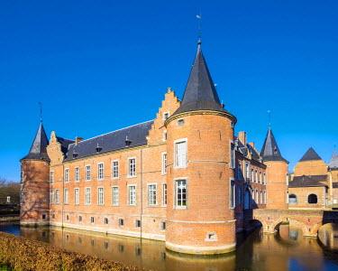 BEL1263AWRF Kasteel Alden Biesen castle, Bilzen, Limburg, Vlaanderen (Flanders), Belgium