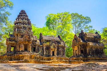 CMB1472AW Thommanon temple ruins, Angkor Archaeological Park, UNESCO World Heritage Site, Siem Reap Province, Cambodia
