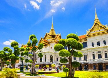 THA1111AW Phra Thinang Chakri Maha Prasat throne hall, Grand Palace complex, Bangkok, Thailand
