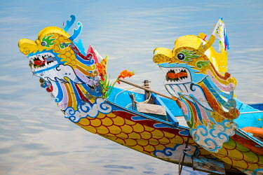 VIT1085AW Colorful Dragon Boats on the Perfume River, Hue, Thua Thien-Hue Province, Vietnam