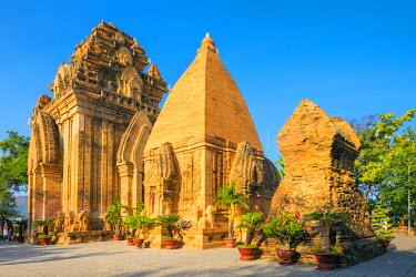 VIT1144AW Po Nagar temple Cham towers, Nha Trang, Khanh Hoa Province, Vietnam