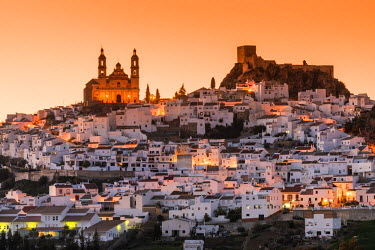 SPA6818AW Sunset view of Olvera, Andalusia, Spain