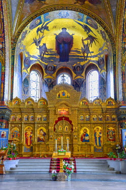 RUS1908AW Church of the Assumption of the Blessed Virgin Mary on Vasilievsky Ostrov, Saint Petersburg, Russia