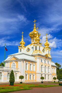 RUS1928AW Church of the Grand Palace, Petergof, Saint Petersburg, Russia