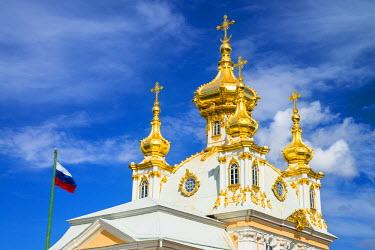 RUS1929AW Church of the Grand Palace, Petergof, Saint Petersburg, Russia
