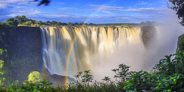 ZB01028 Zimbabwe, Victoria Falls, Victoria Falls National Park during rainy season (UNESCO Site)