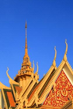 CM036RF Cambodia, Phnom Penh, Royal Palace, Silver Pagoda