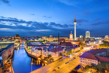 GER9026AW Overview, Berlin Dom, Spree River and Television tower, Berlin, Germany