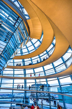 GER9119AW Interior, Dome, Reichstag, Berlin, Germany