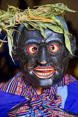 AS04PAD0002 Masked dancer, Tshechu Festival at Wangdue Phodrang Dzong Wangdi, Bhutan
