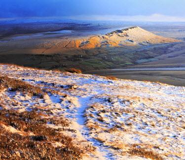 ENG12984AW England, Marsden Moor. Looking towards Pule Hill from Buckstone Edge in Winter.