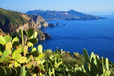 ITA5379AW View from Belvedere Quattrocchi, Lipari, Aeolian Islands, UNESCO World Heritage Site, Sicily, Italy, Mediterranean, Europe
